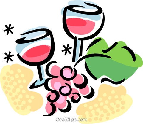 Wine Royalty Free Vector Clip Art illustration.