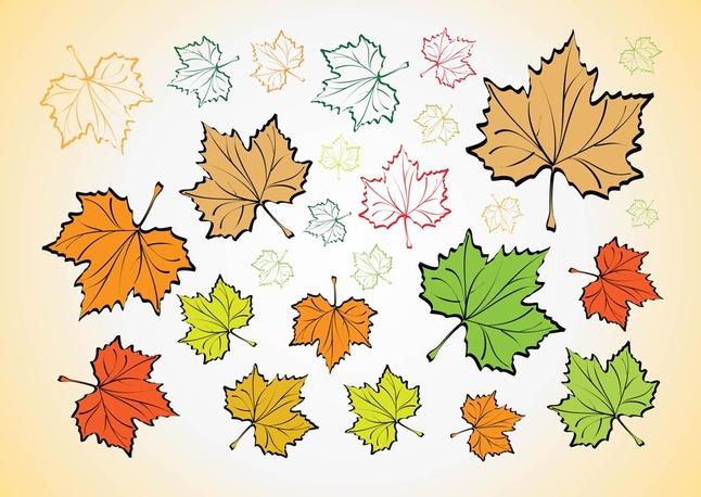 Leaves Vectors clip arts, free clipart.