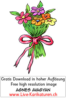 Blumen Blumenstrauss Band Danke.