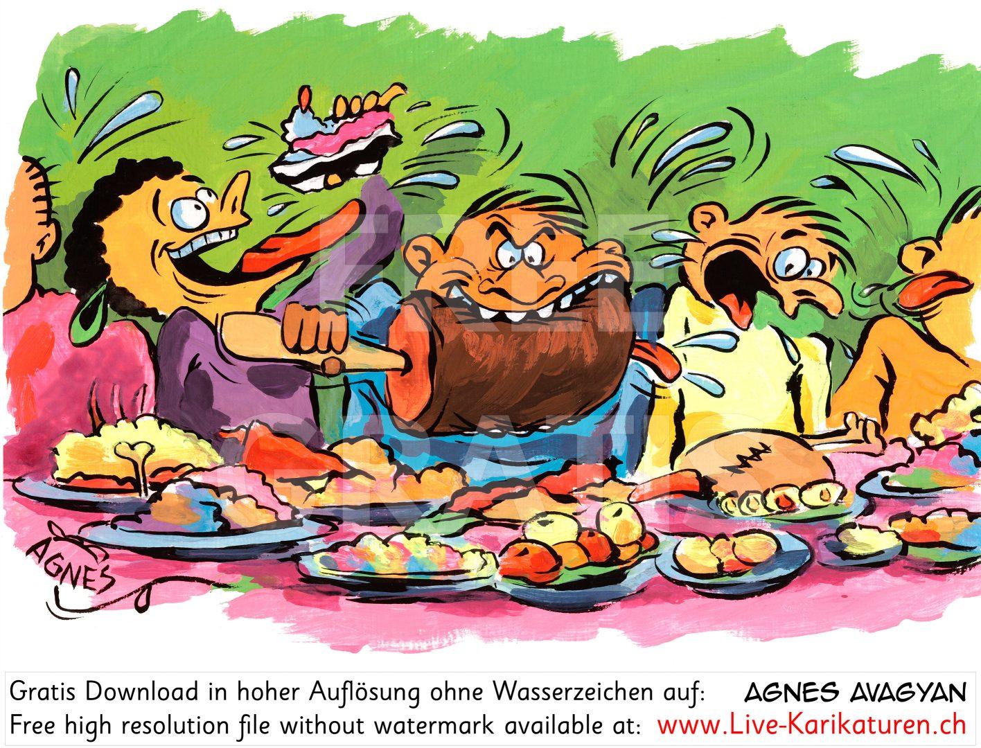 Fresser Fressen Mahlzeit.