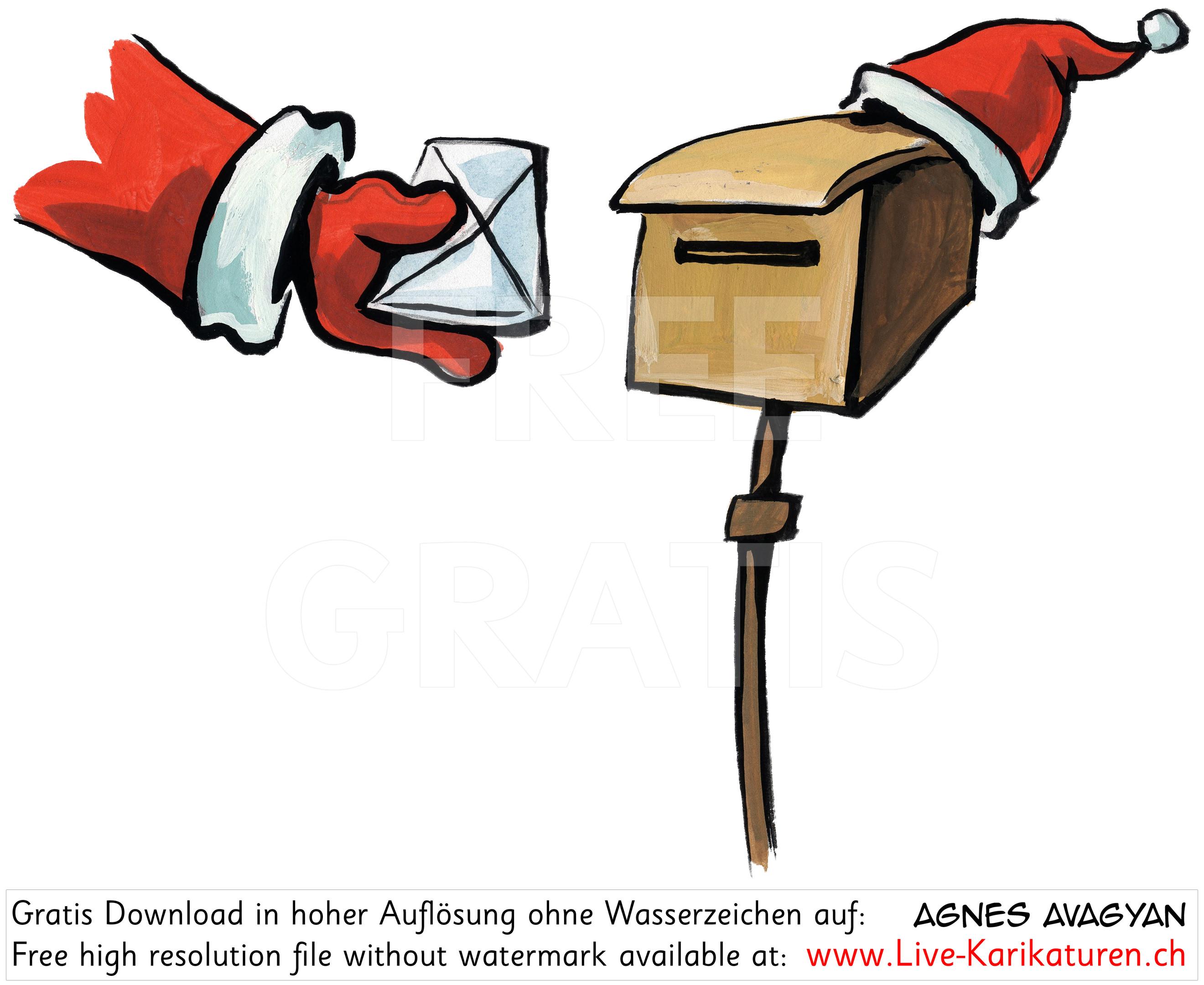 Weihnachten Post Weihnachtsmann.