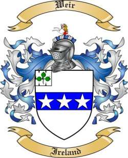 Weir Family Crest from Ireland by The Tree Maker.