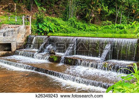 Stock Photo of Weir to irrigate.