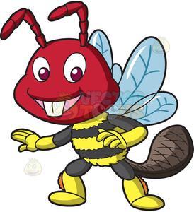 A weird hybrid bee.