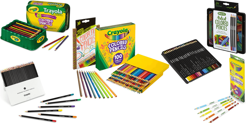 Crayola Colored Pencils: Review of Type Packs [2019] at.