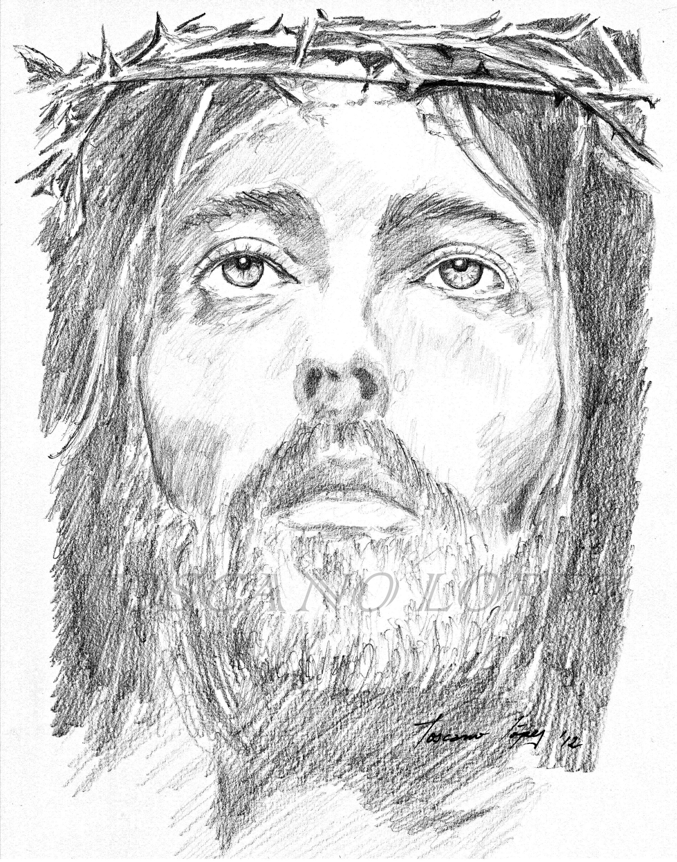 Jesus Face Pencil Drawing at GetDrawings.com.