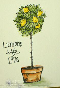 lemon tree art.