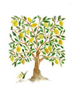 Weird Lemon Tree Clipart.