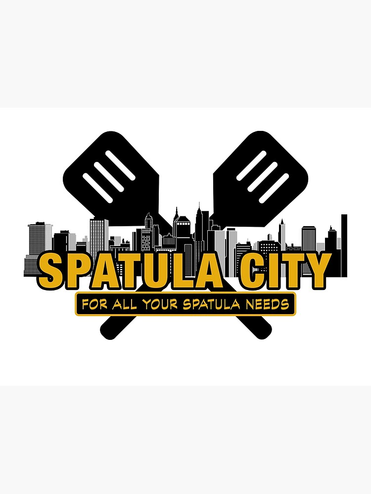 Spatula City, Movie business logo from UHF. Weird Al Yankovic..