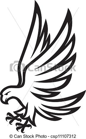 Vector Clip Art of Eagle csp11107312.