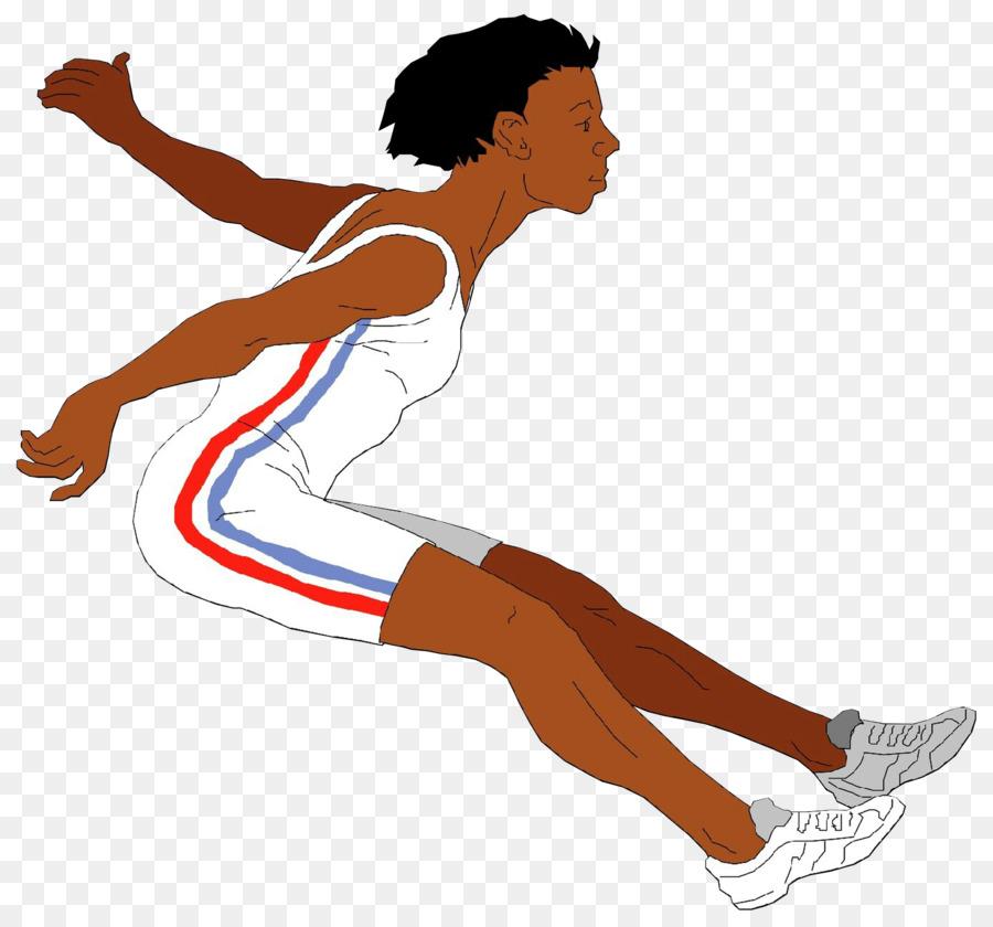 GIF ClipArt Springen Weitsprung Leichtathletik.
