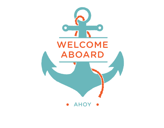 Welcome aboard clipart free.