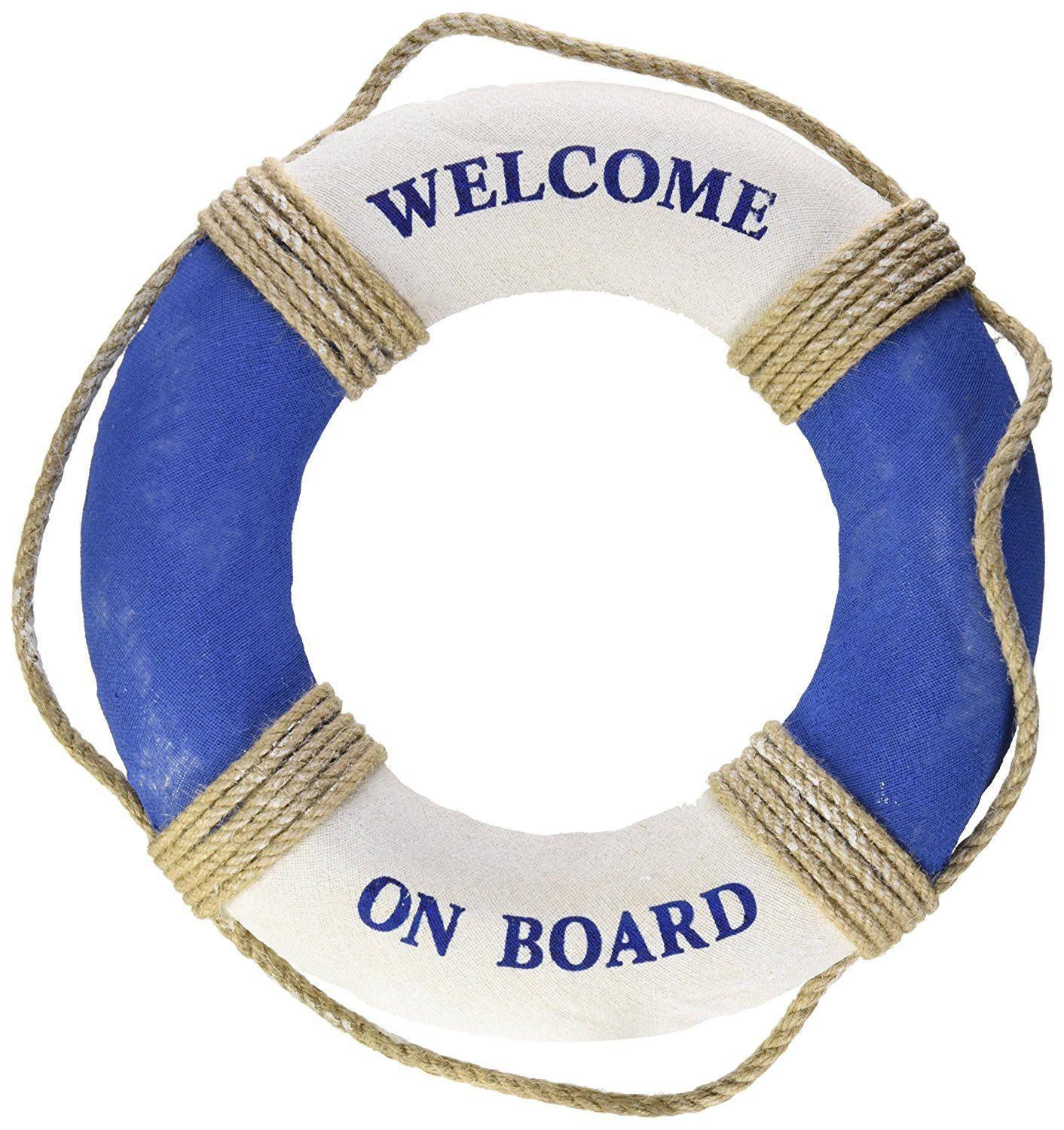 Nautical Life Ring Decoration; Welcome Aboard Decor; Baby On.