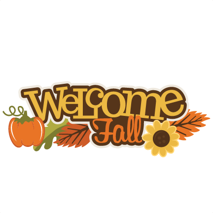 Fall Welcome Clipart.