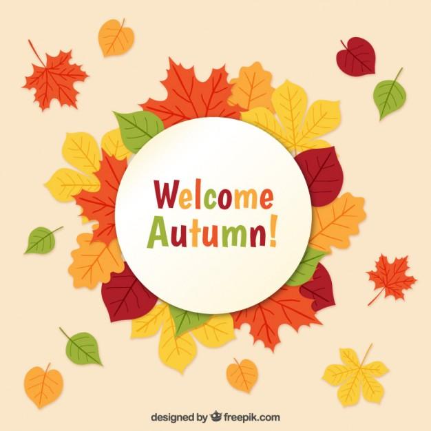 Welcome autumn! Vector.