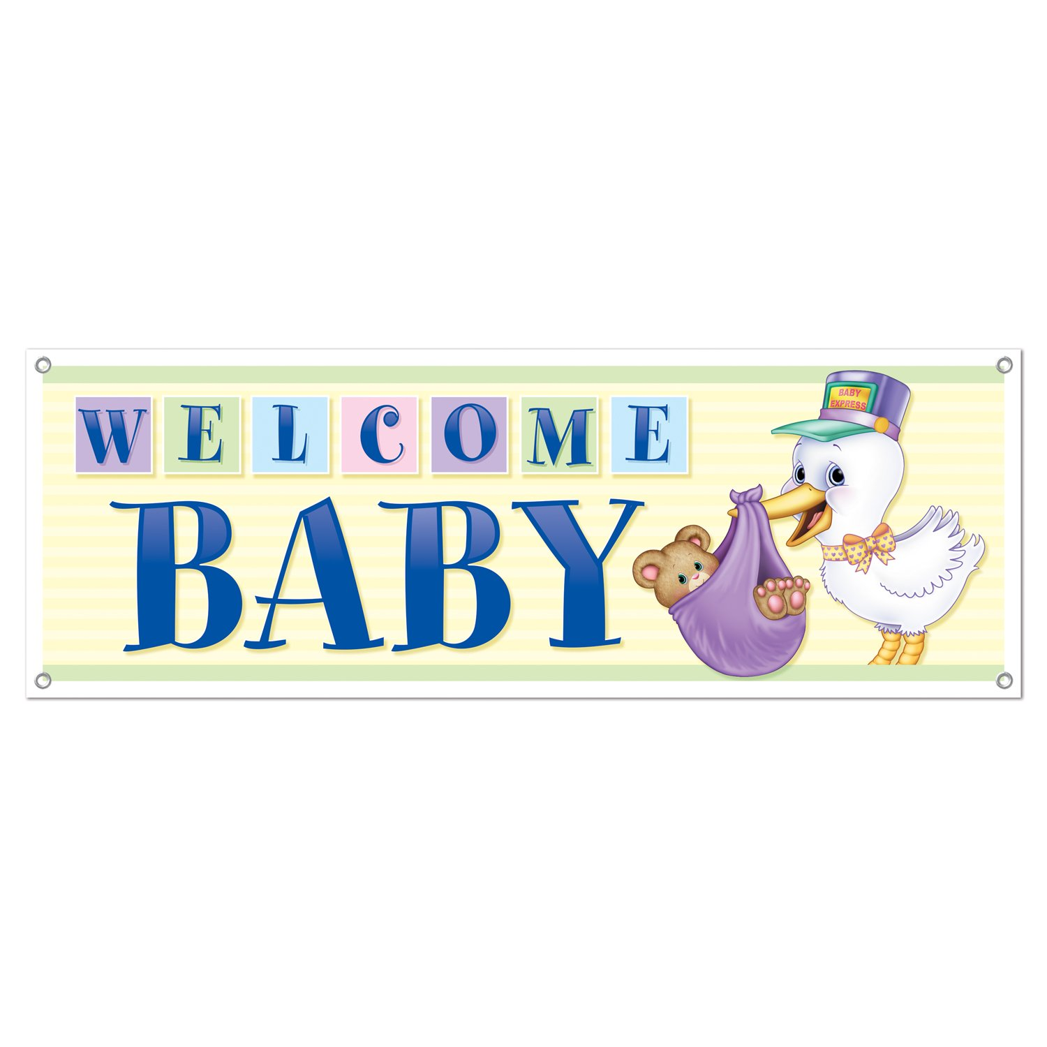 Welcome Baby Sign Banner Party Accessory (1 count) (1/Pkg).