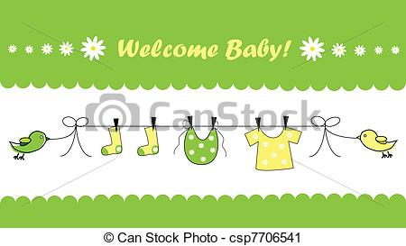 Welcome baby Vector Clipart Royalty Free. 7,300 Welcome baby clip.