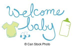 Stock Illustration of Welcome Baby.