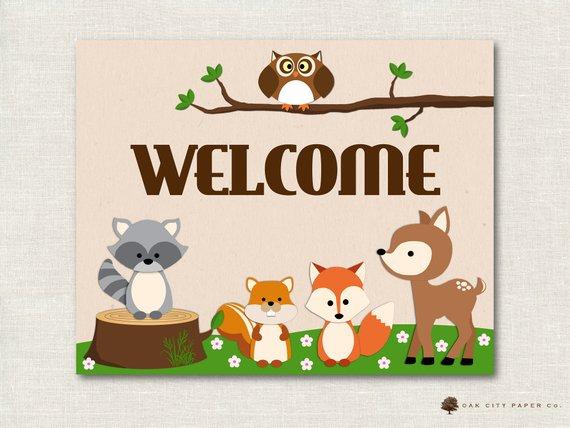 Woodland Animal Baby Shower Decorations, Woodland Animal.