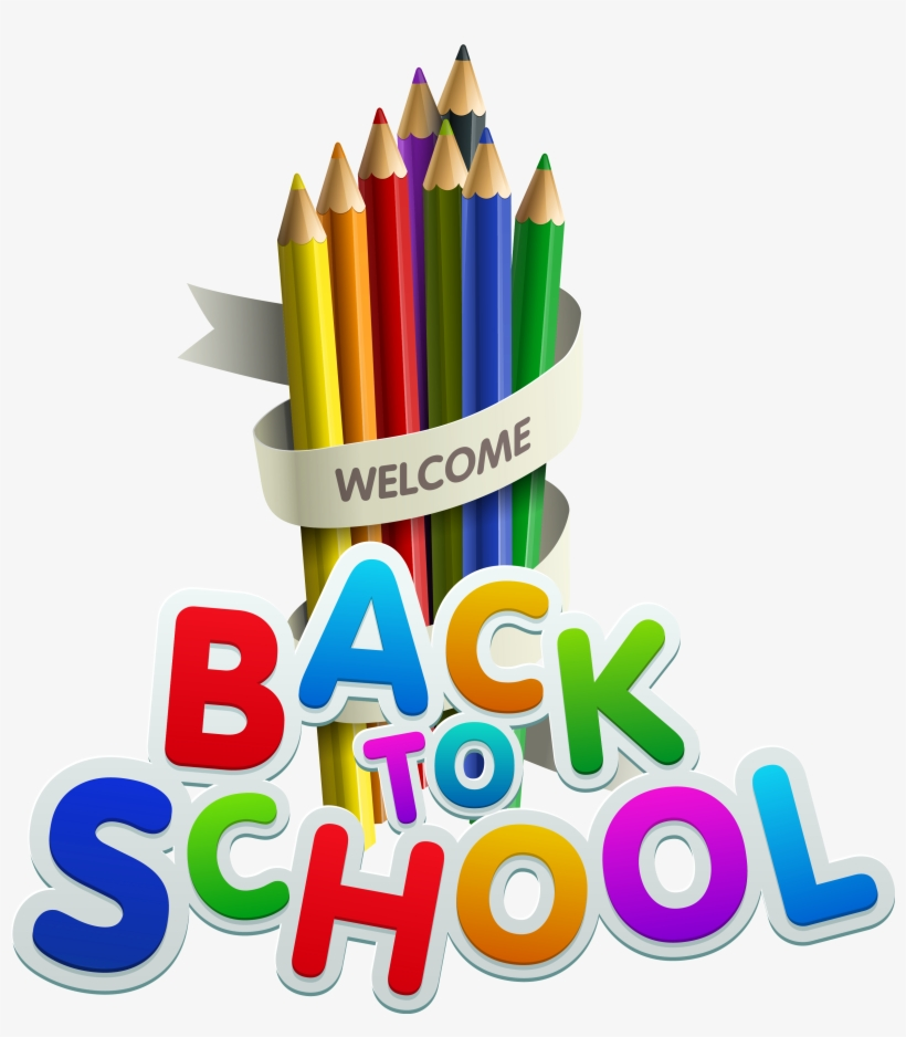 Welcome Back To School Color Pencils Clipart.