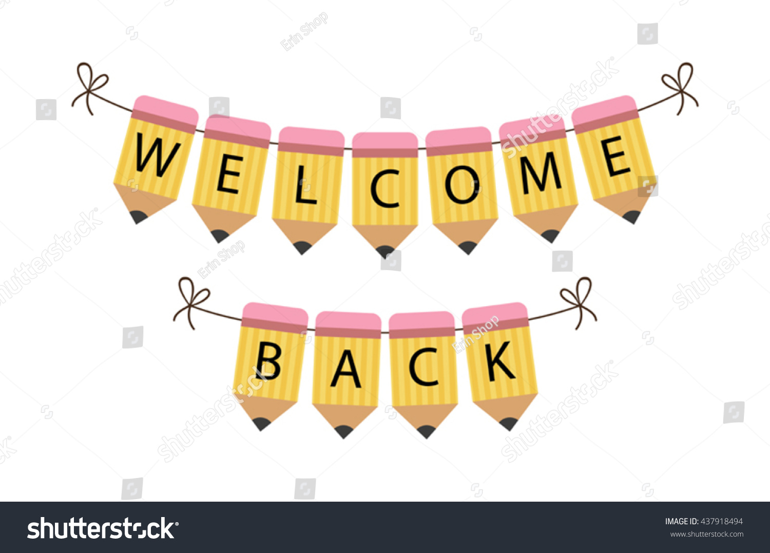 Welcome Back Banner Clipart.