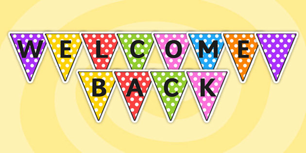 1062 Welcome Back free clipart.