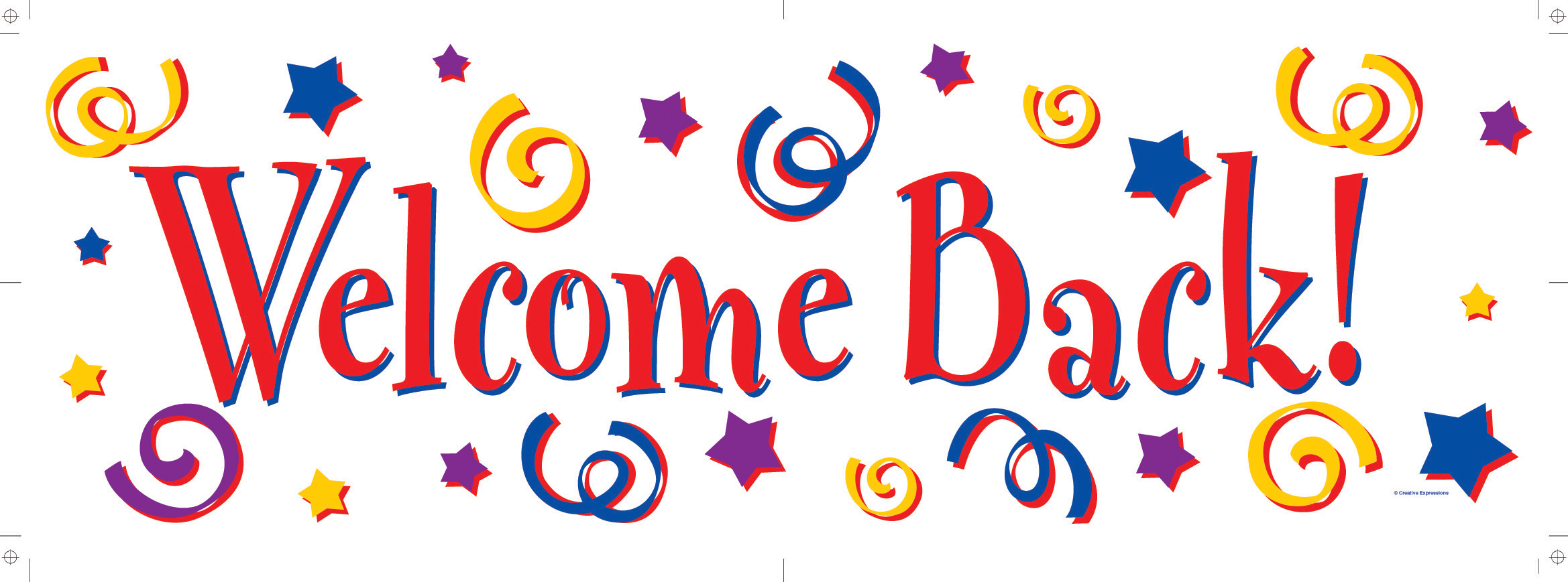Welcome Back Sign Clipart.