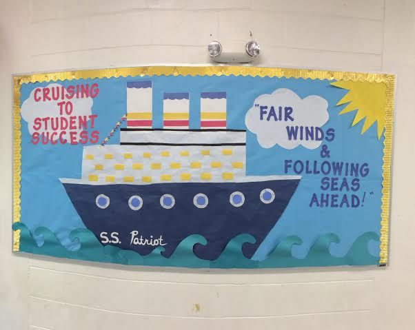 Cruise ship bulletin board.