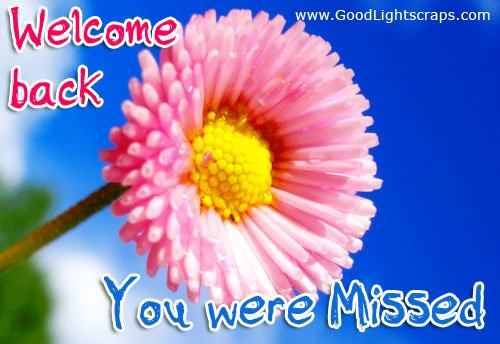 Welcome Back You Were Missed Clipart.