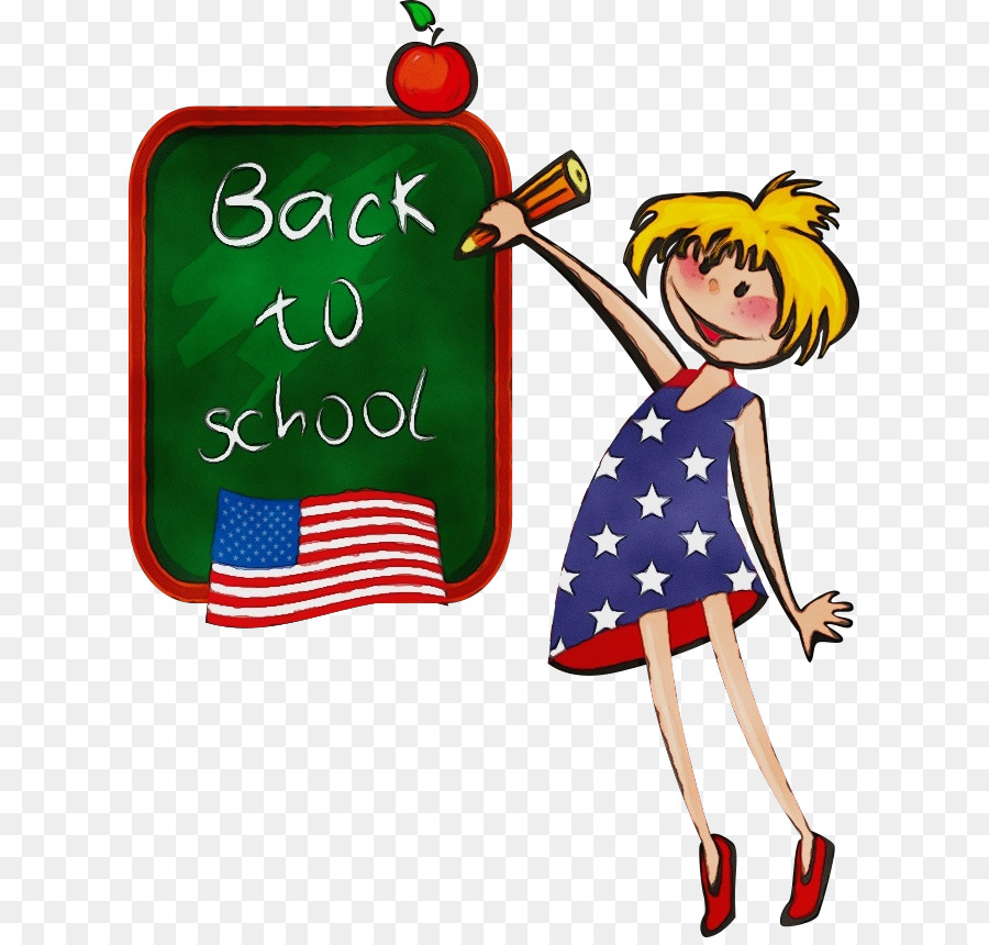 Back To School Cartoon Background.