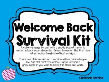 Welcome Back Clip Art & Worksheets.