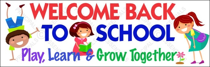 Welcome Back To School Banner Clip Art.