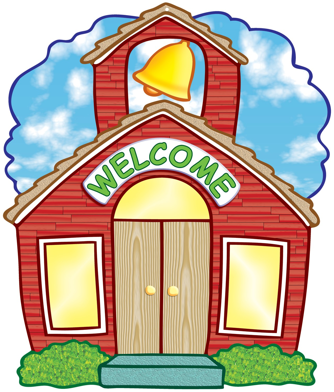 School house welcome back to school schoolhouse clipart.