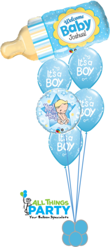 Welcome Baby Bottle Personalised Baby Boy Bouquet in 2019.