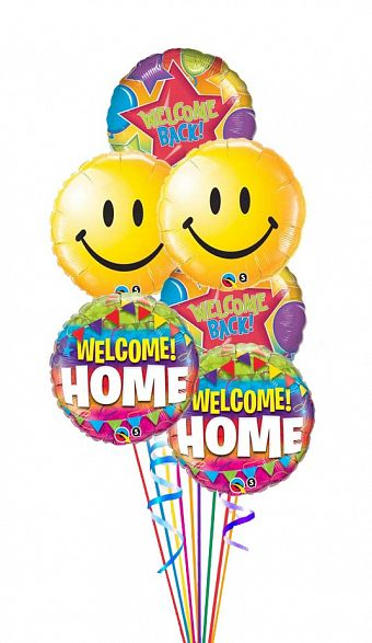 Welcome Home Welcome Back Balloon Bouquet.