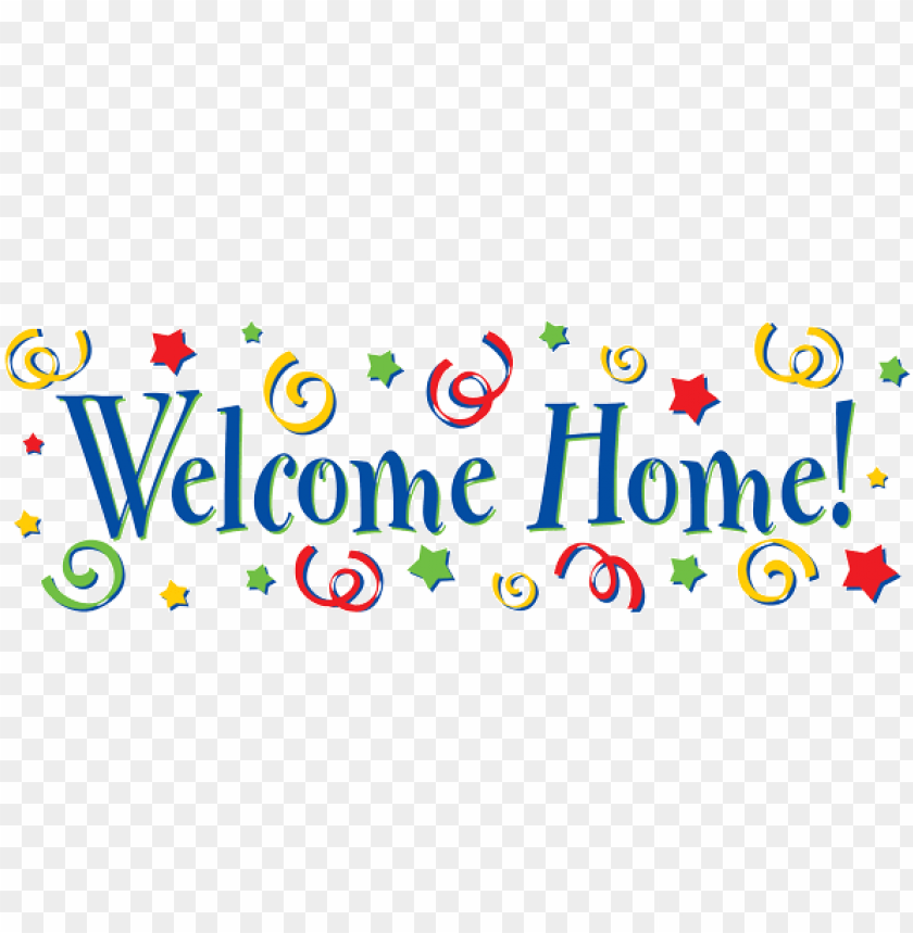 welcome home banner designs PNG image with transparent.