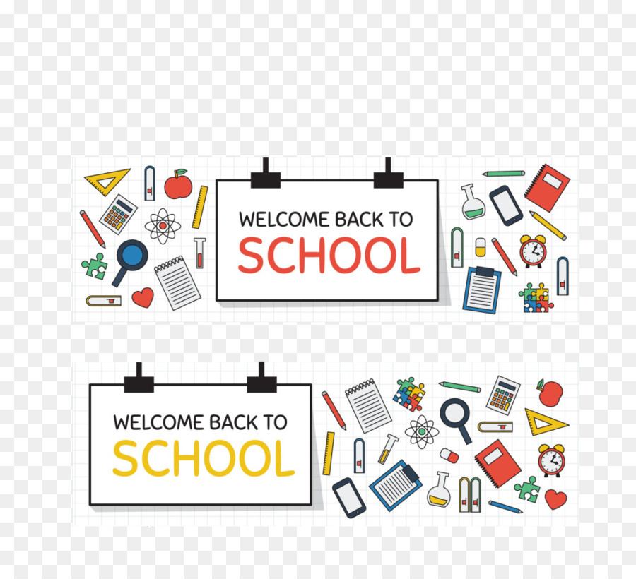 Back To School Background Banner png download.