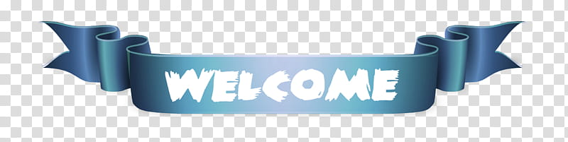 Welcome Banner transparent background PNG clipart.