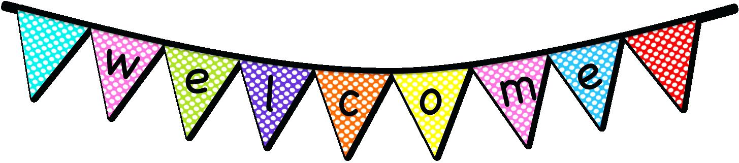 Welcome Banner Clipart.