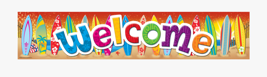 Tcr5388 Surf\'s Up Welcome Banner Image.