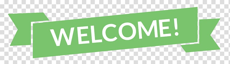 Welcome signage , Green Welcome Banner transparent.