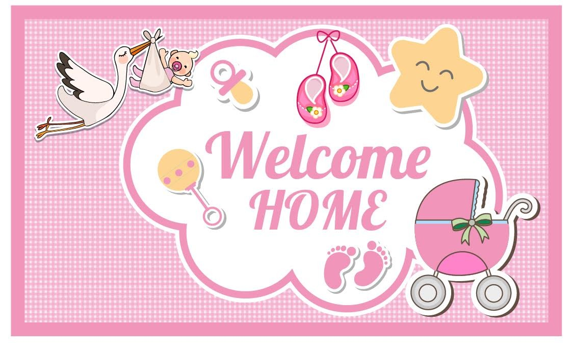 Welcome Home Banner Pink.