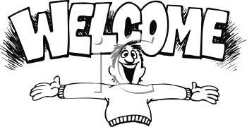 Welcome clipart black and white 3 » Clipart Station.