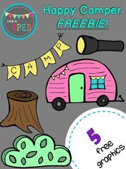 Happy Camper Freebie!! Clipart.