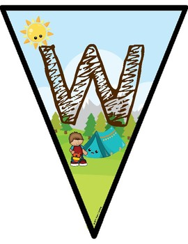 Camping Theme Welcome Banner.
