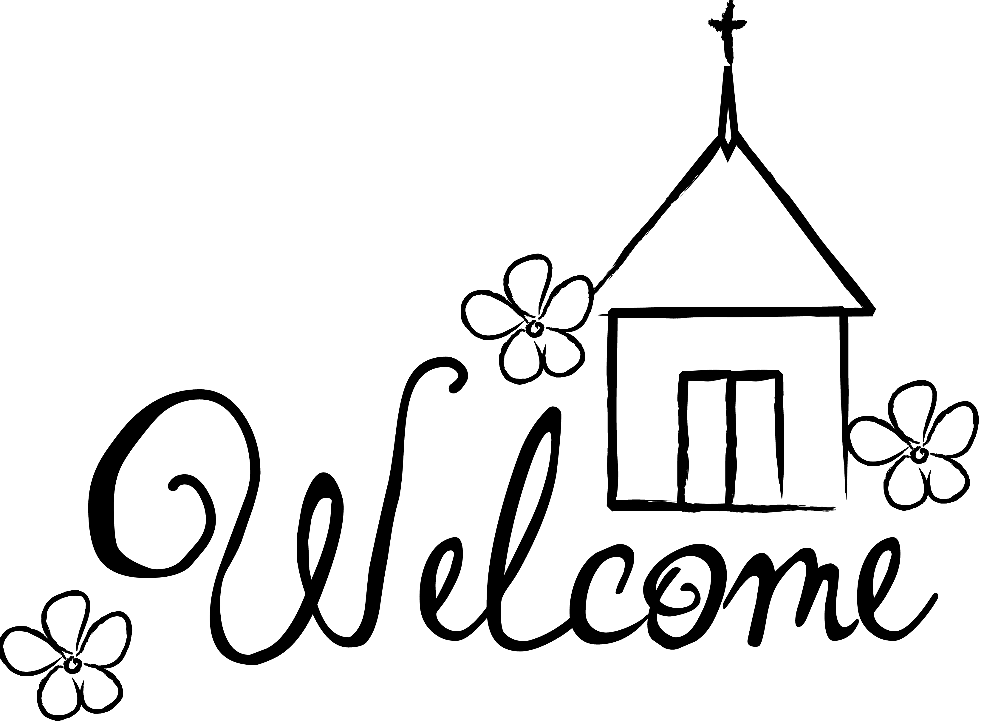 Welcome visitors clipart.