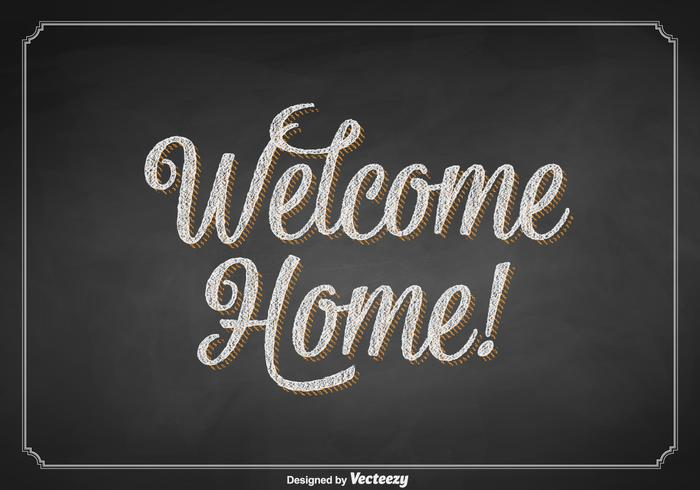 Free Vector Welcome Home Chalkboard Sign.