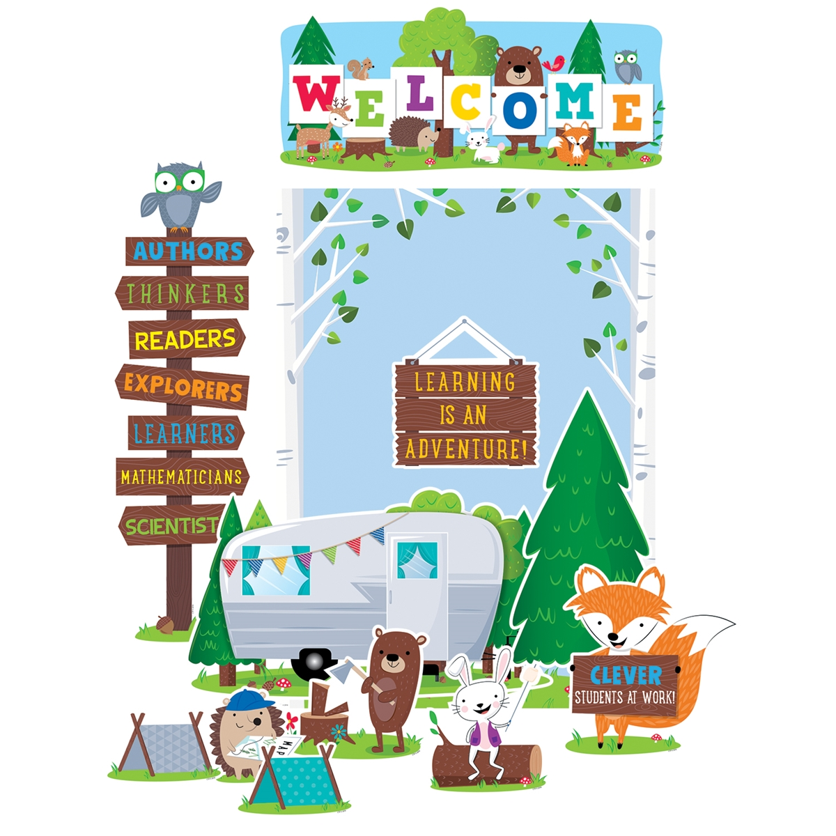 Woodland Friends Welcome Bulletin Board Set.