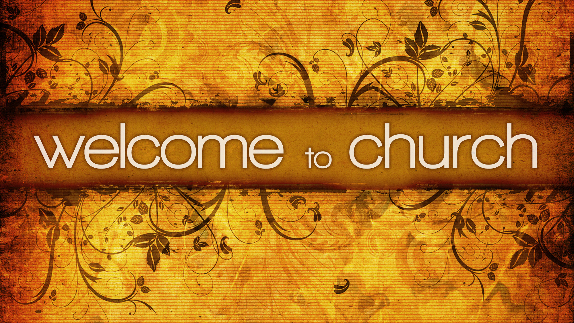 Welcome church visitor clipart.