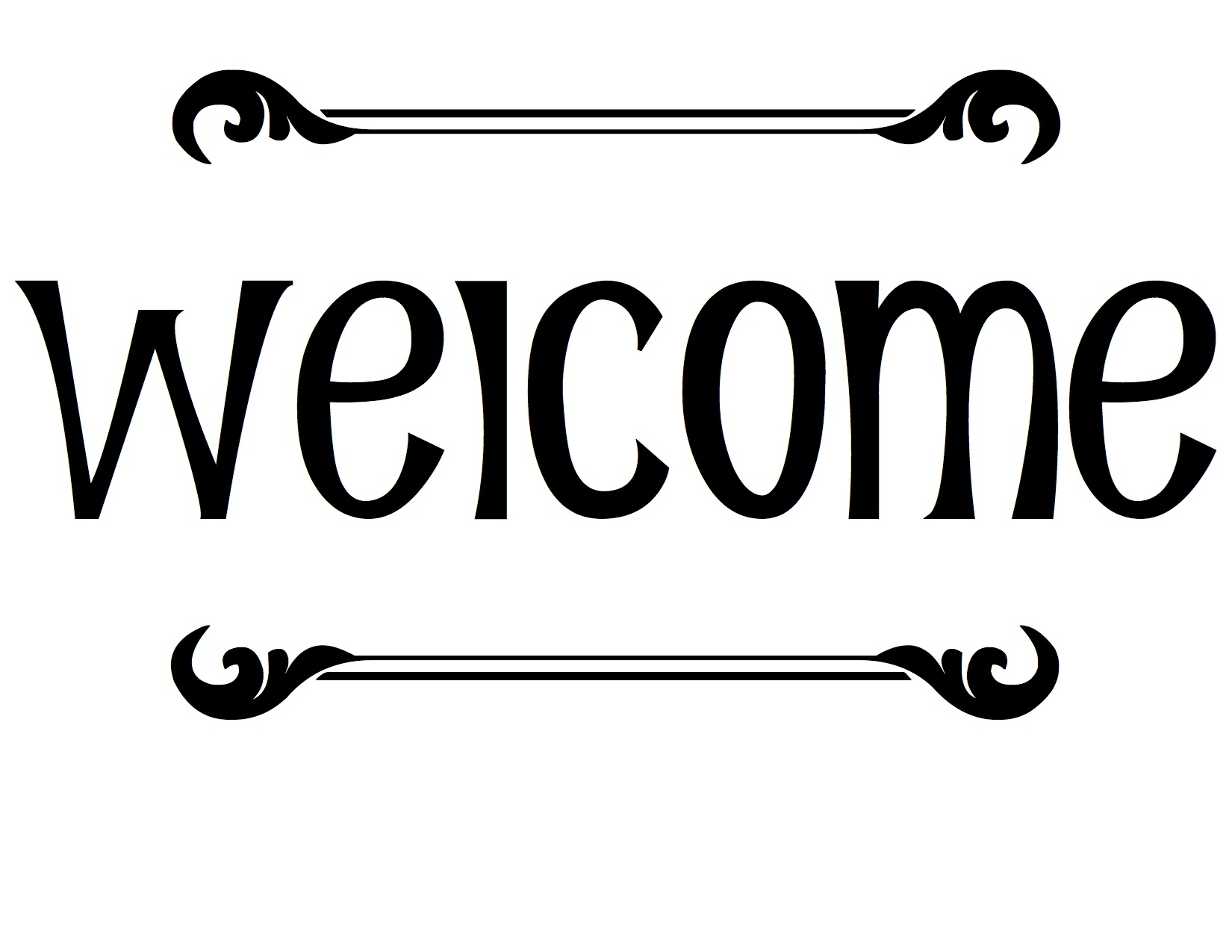 Welcome clipart black and white 7 » Clipart Station.